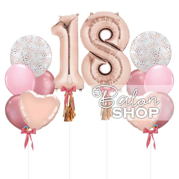 rose gold set za 18 rodjendan