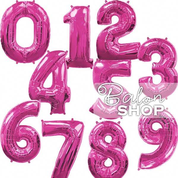 roze brojevi baloni