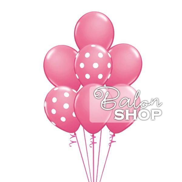 roze helijumski buket