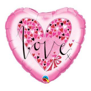 Roze Love srce balon