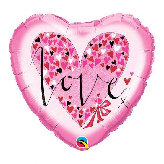 roze srce ljubav balon