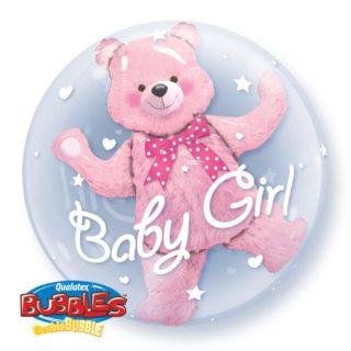 Baby Girl roze meda u bubble balonu