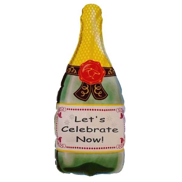 šampanjac balon lets celebrate now