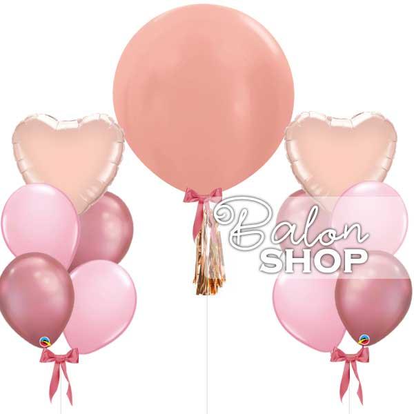 baloni roze boje u setu
