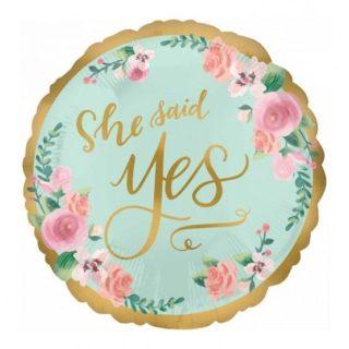 She said YES balon za devojačko veče