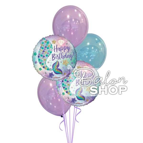 sirena buket balona za rodjendan
