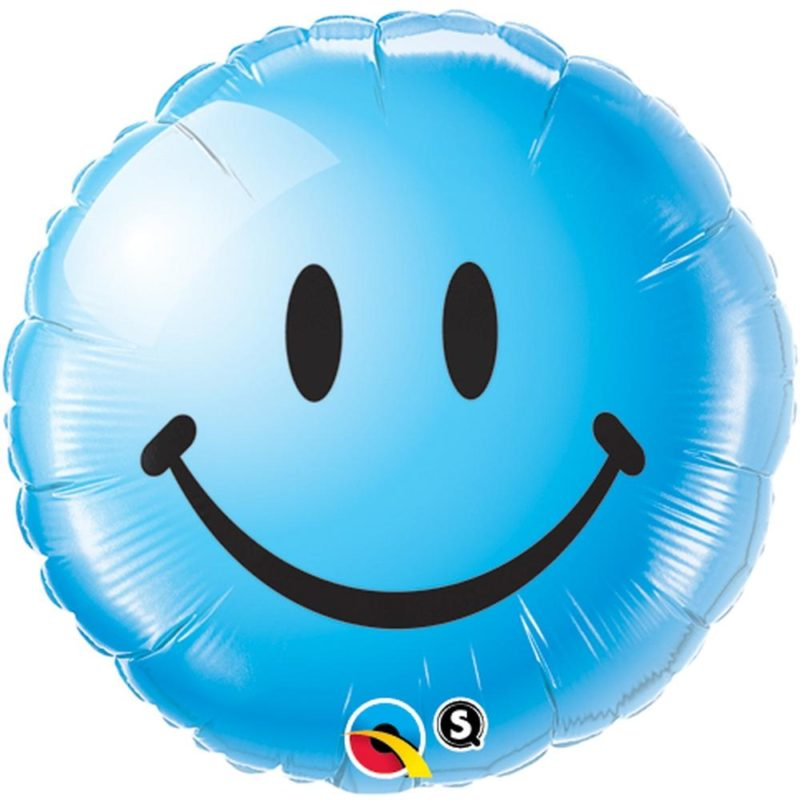 smile face plavi balon