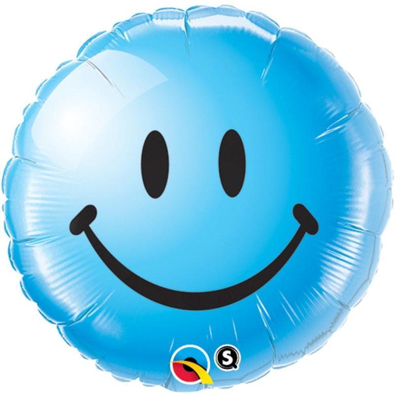 smile face plavi balon