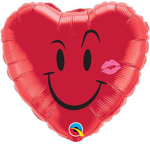 smile love kiss balon