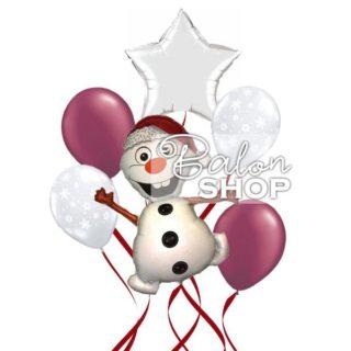 SNOWMAN buket balona
