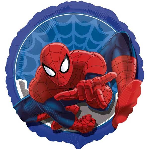 spiderman plavi okrugao balon