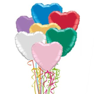 Srce folija baloni buket u više boja