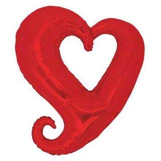 Srce u srcu folija baloni