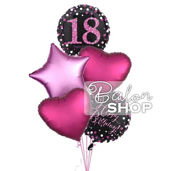baloni buket za 18 rodjendan