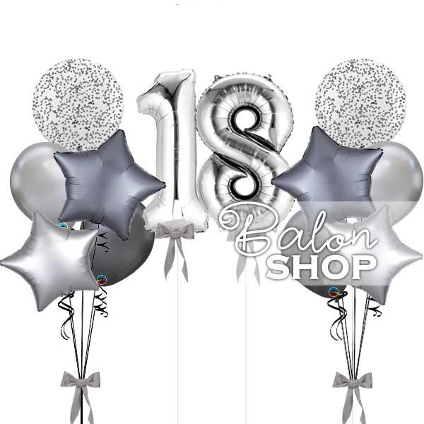 srebrna dekoracija za 18 rodjendan