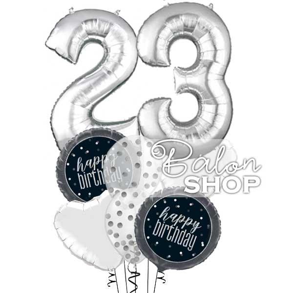 srebrni baloni sa brojem