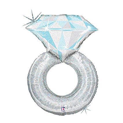 srebrni prsten balon