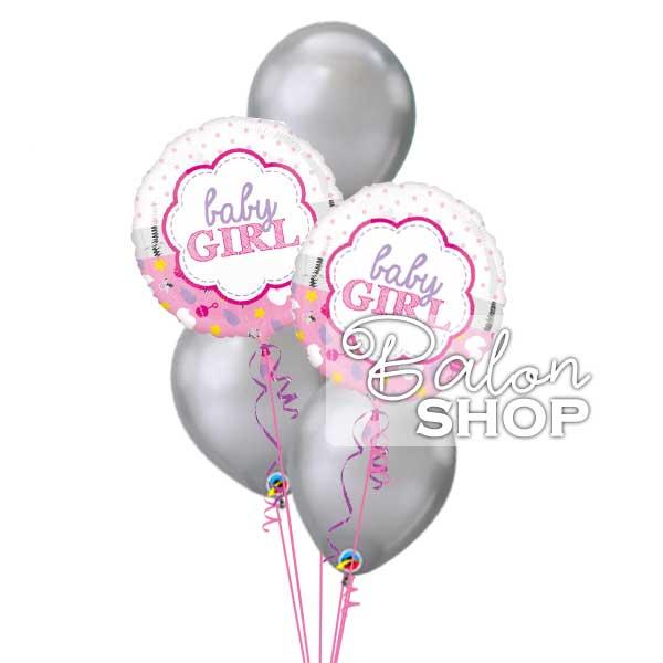 buket balona za rodjenje devojcice dekoracija