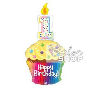 Srećan PRVI rođendan torta folija balon