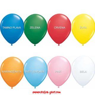 Okrugli baloni Standard boje 28cm