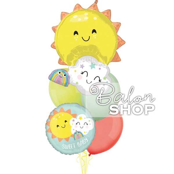 sweet baby sunce buket balona