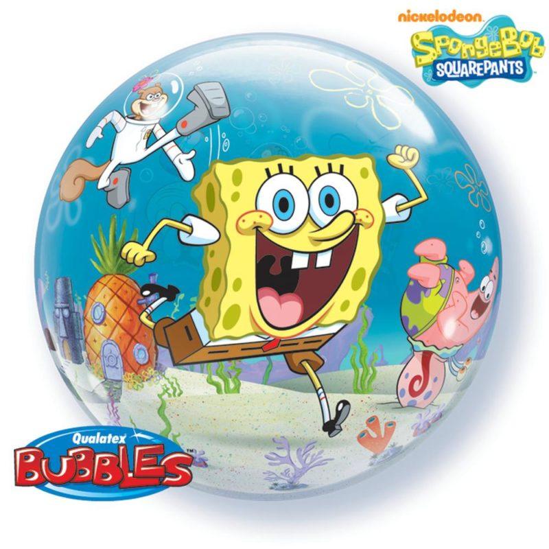 sundjer bob bubble balon
