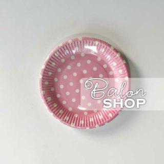 Roze tufnasti papirni tanjiri