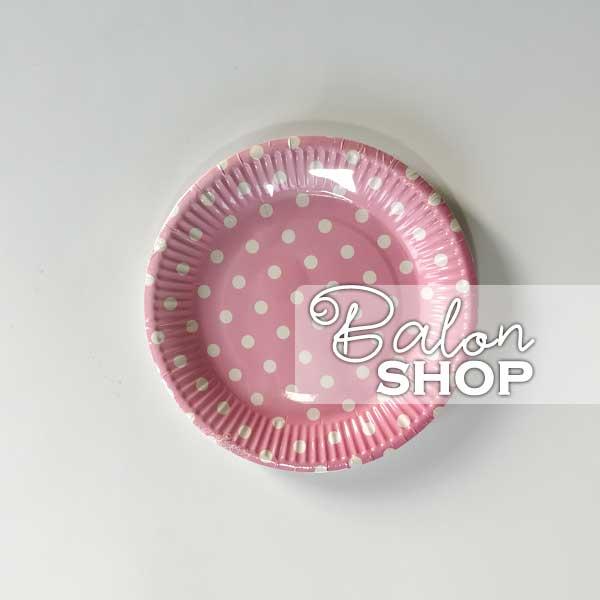 svetlo roze tufnasti tanjiri