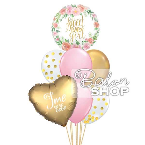 sweet baby girl baloni buket