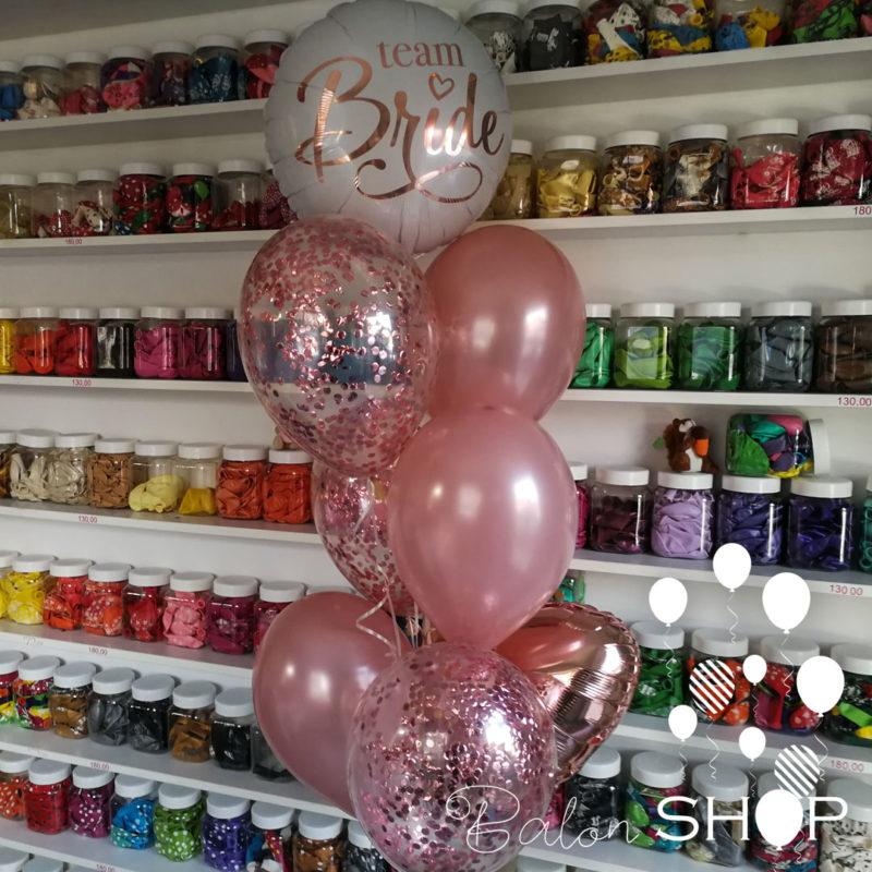 team bride buket helijumskih balona