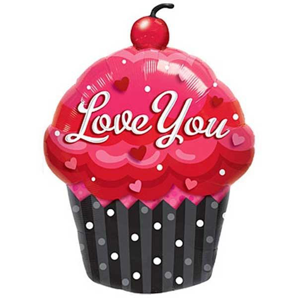 cupcake sa višnjom love balon