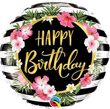 tropical happy birthday balon