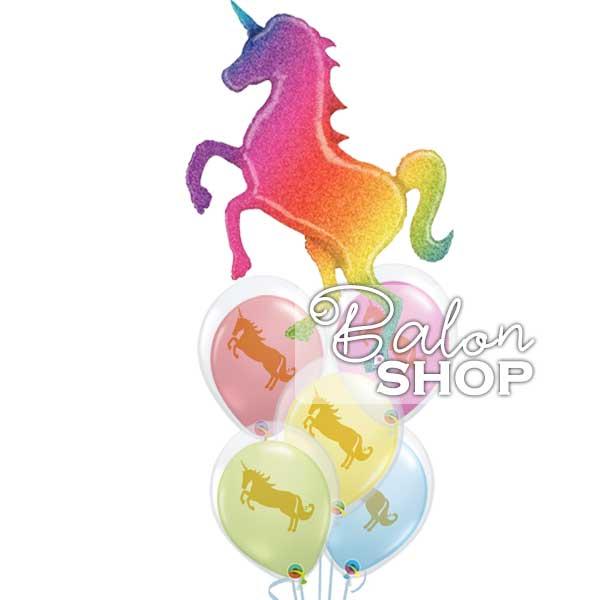 unicorn buket balona