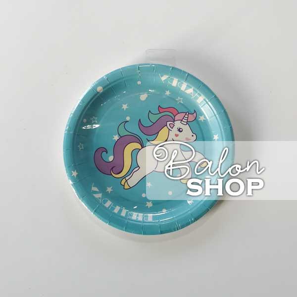 unicorn plavi tanjiric