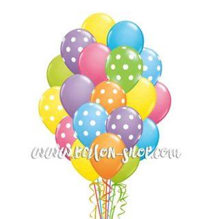 Veliki buket balona punjeni helijumom