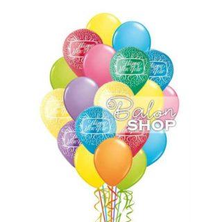 Veliki buket balona za Novu godinu