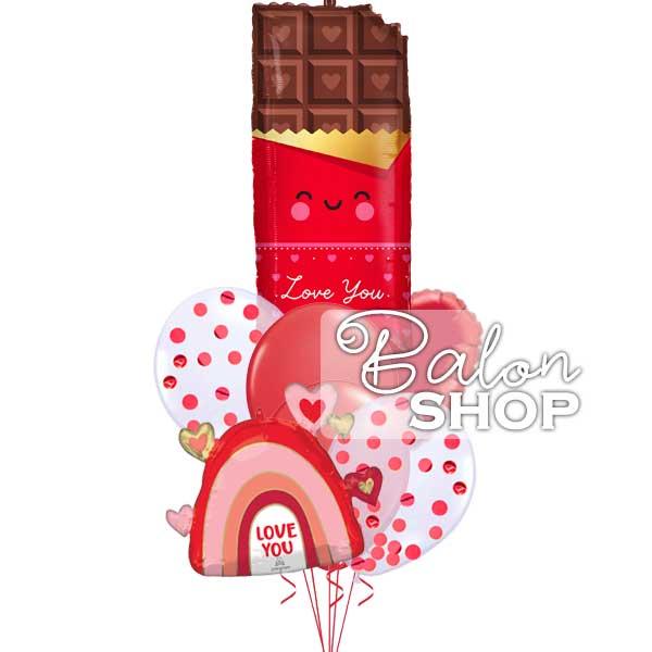 volim te cokoladice buket balona