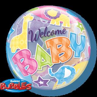 Welcome Baby bubble baloni