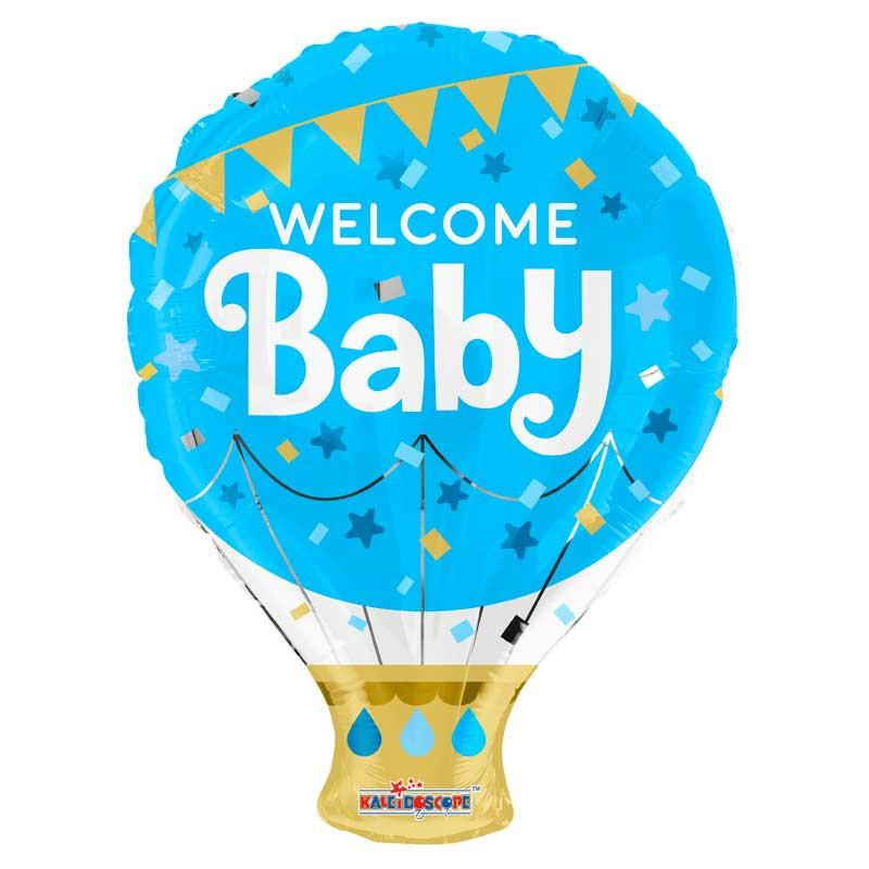 welcome baby ht air plavi balon