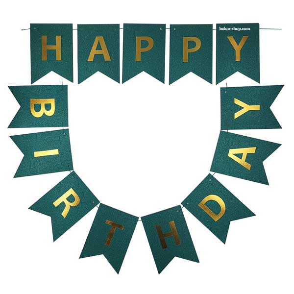 zeleni baner happy birhday