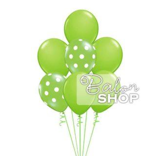 Zeleni baloni punjeni helijumom