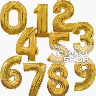 Brojevi baloni helijumski zlatni