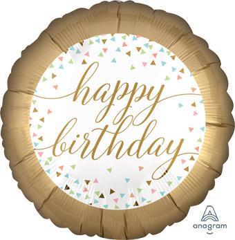 zlatni happy birthday