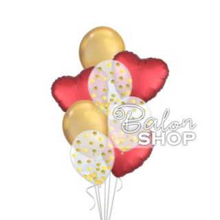 Satin & Chrome u buketu balona