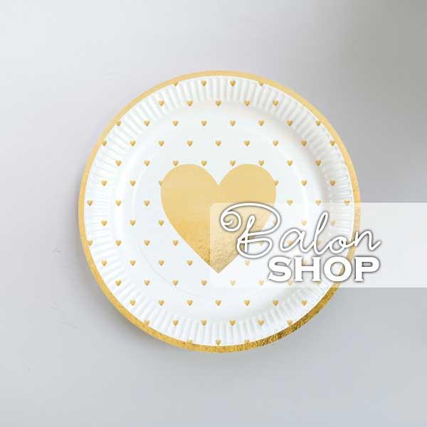 zlatno srce tanjir