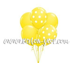Žuti baloni punjeni helijumom