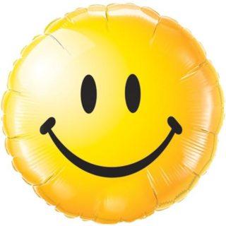 Žuti Smajli folija balon