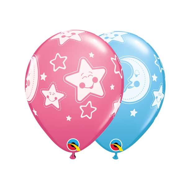 mesec i zvezde gumeni baloni
